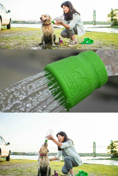 Походный душ для собак.