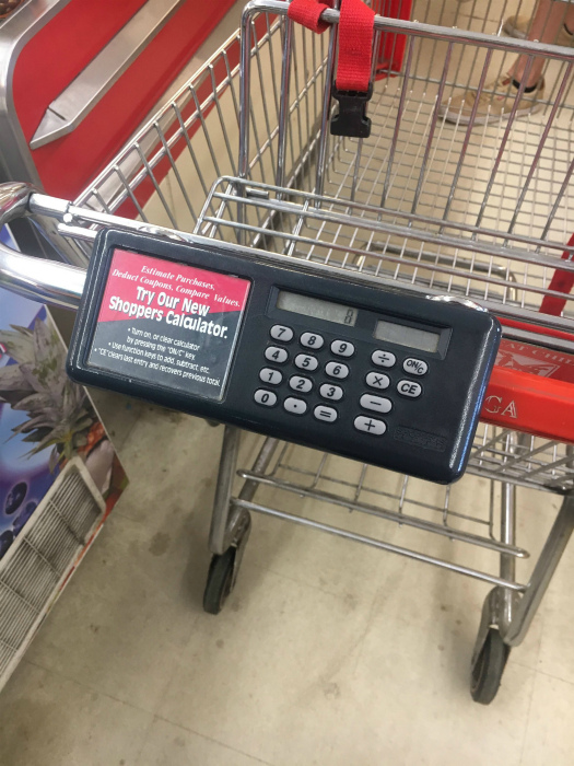 Торговая тележка с калькулятором. | Фото: NewSide.gr.