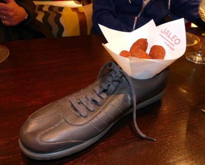 Мясо в ботинке.