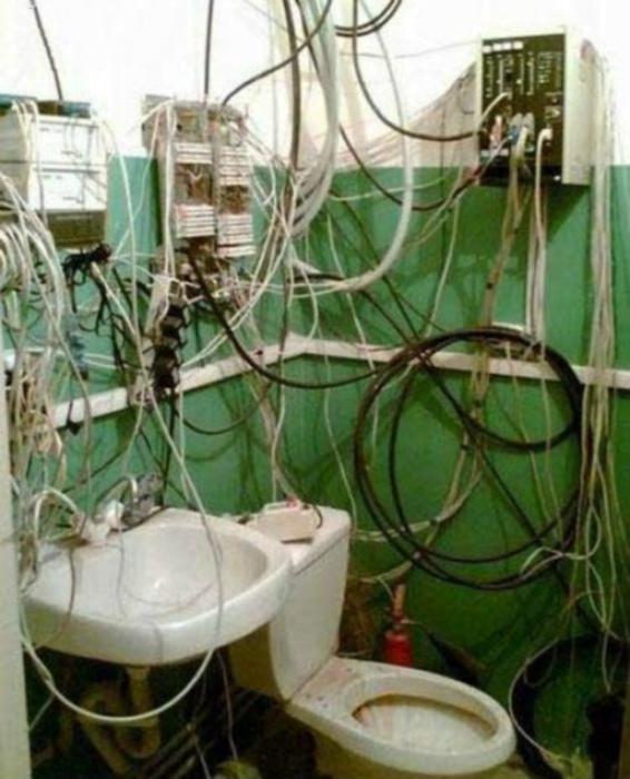 Пугающий туалет.