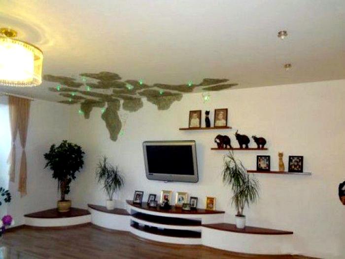 Неповторимый дизайн потолка.