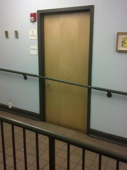 Блокировка двери.