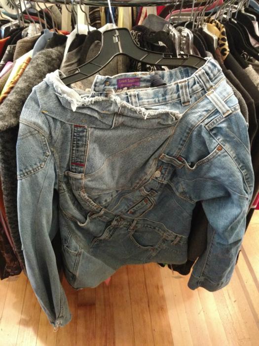 Свитер из джинсов.