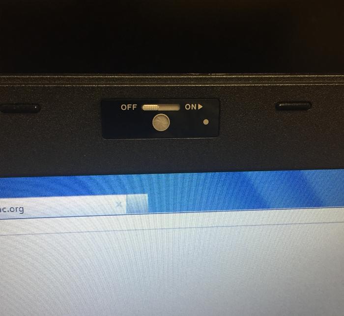 Кнопка выключения веб камеры.