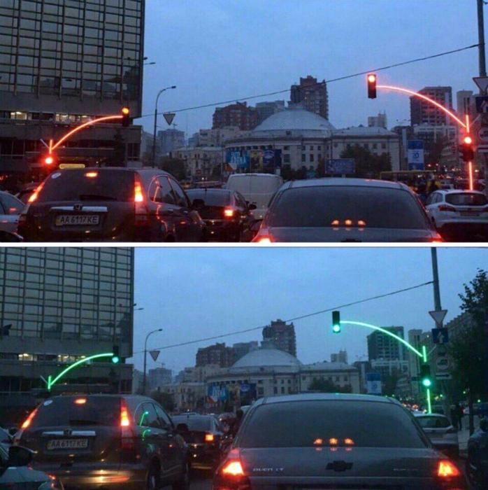 Уникальные светофоры.