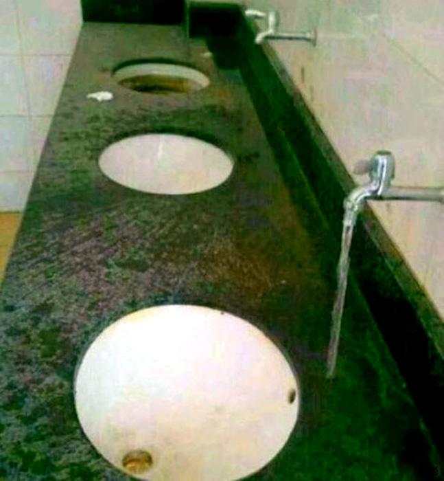 Уникальный дизайн ванной комнаты. | Фото: ОчепяткИ.ру.