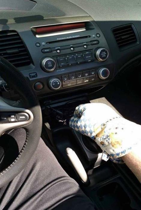 Перчатка для работы с горячим.