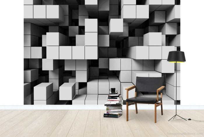 Фотообои с изображением кубов.