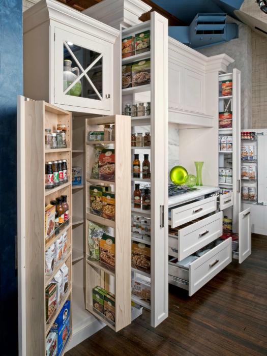 Современные системы хранения на кухне.