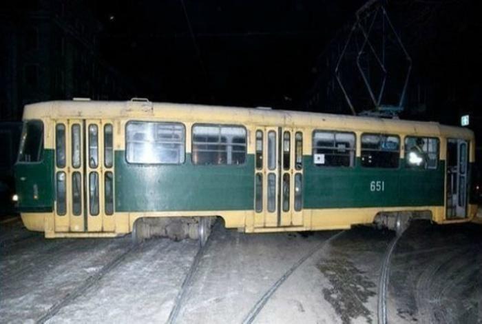 Трамвайный дрифт.
