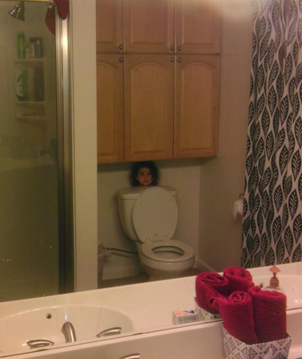 Если бы она помещалась в бачок, она бы пряталась там! | Фото: wowfeed.online.