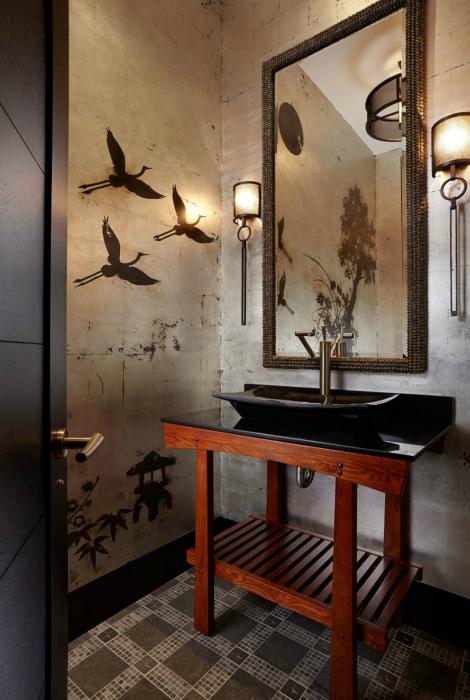 Ванная комната в восточном стиле.