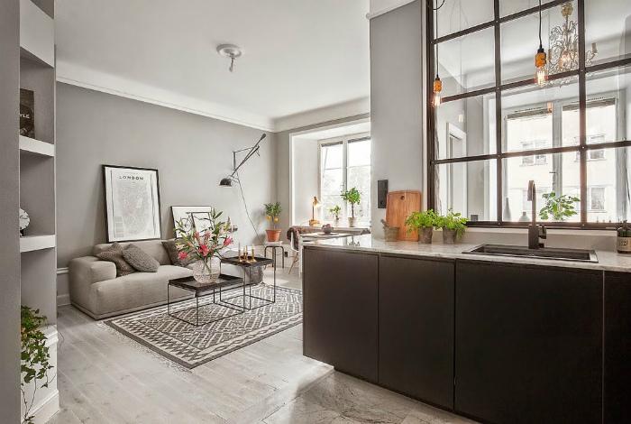 Квартира-студия в стиле модерн.