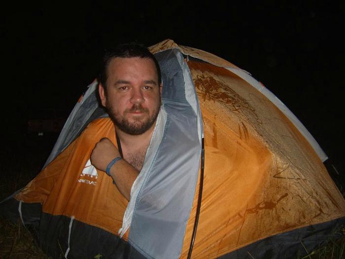 Тесная палатка. | Фото: MADE IN CCCP.