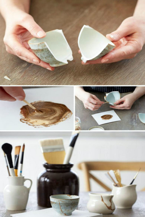 Цветной клей для керамики.