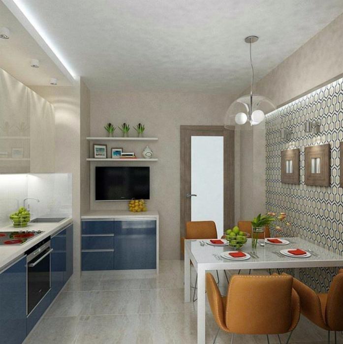 Уютная кухня в нейтральных тонах.