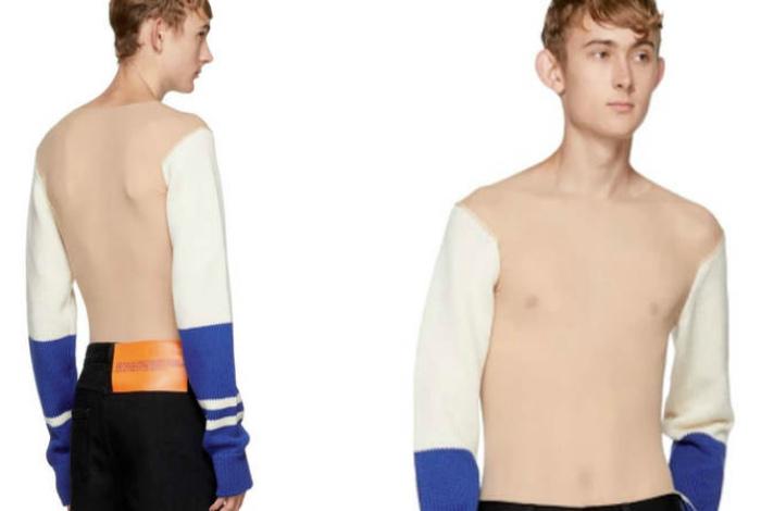 Прозрачный свитер.