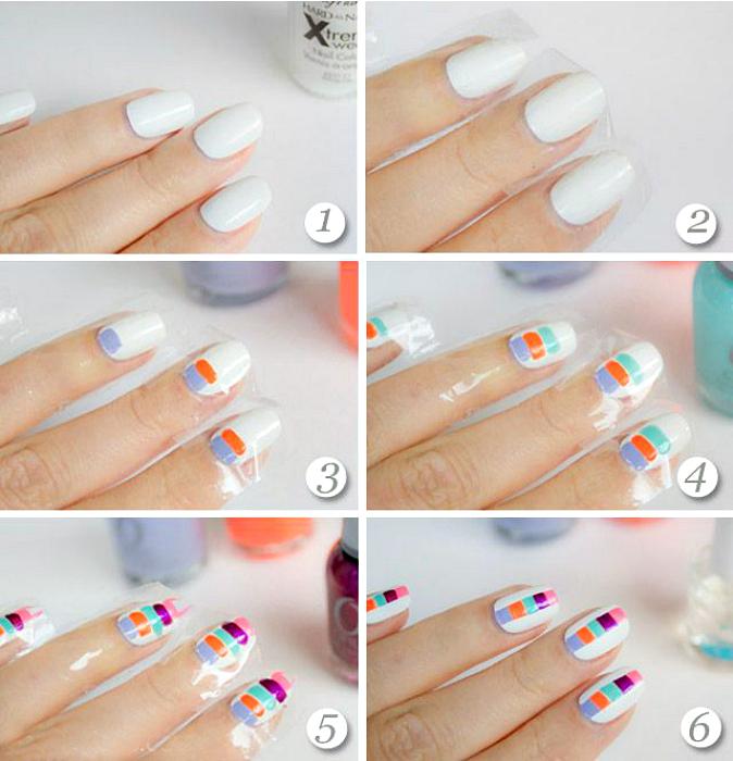 Простий соковитий дизайн нігтів.