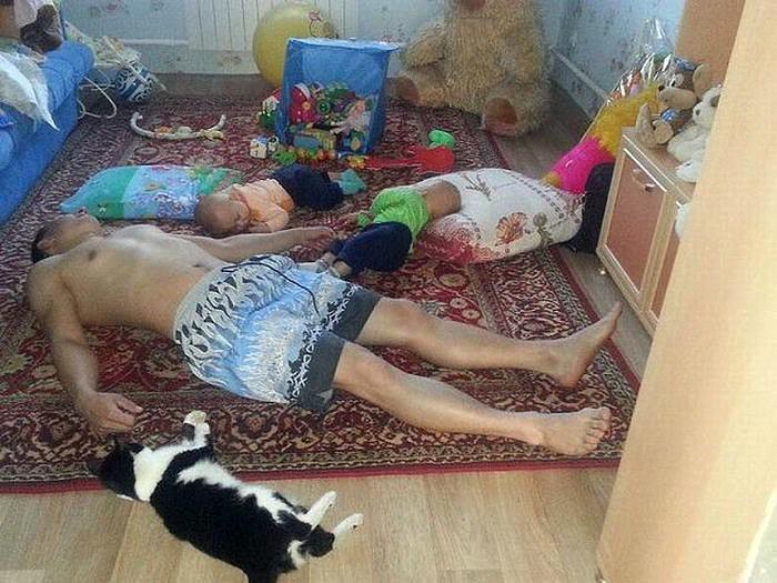Спящие тела.