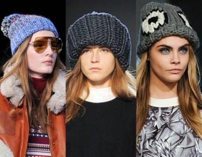 Вязаные шапки.