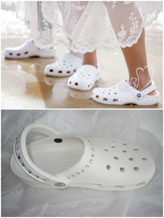 Свадебные кроксы - уродливо, но очень удобно!