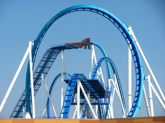 Невероятный аттракцион в парке развлечений Cedar Point.