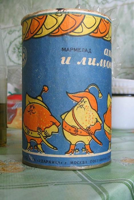 Самый вкусный мармелад в жестяной банке выпускали на фабрике «Ударница».