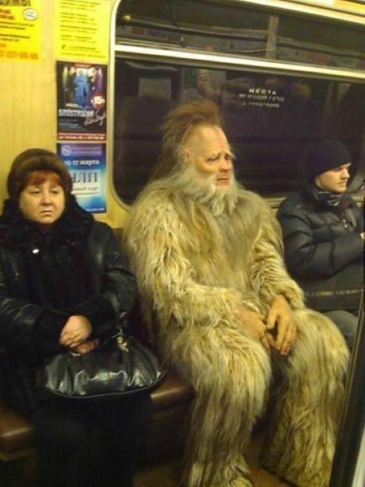 Кого только не встретишь в русской подземке.