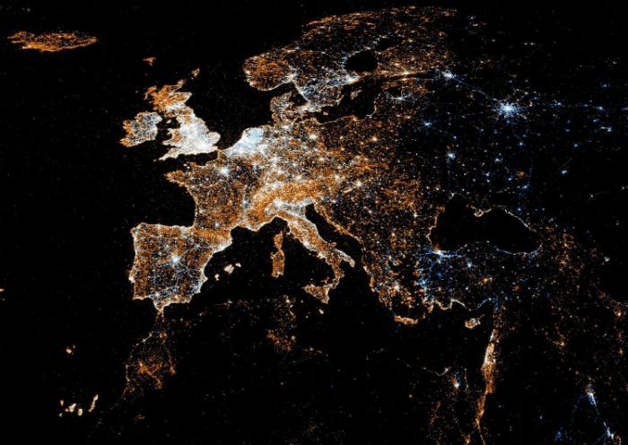 Новогодние салюты в Европе. 2012 год.