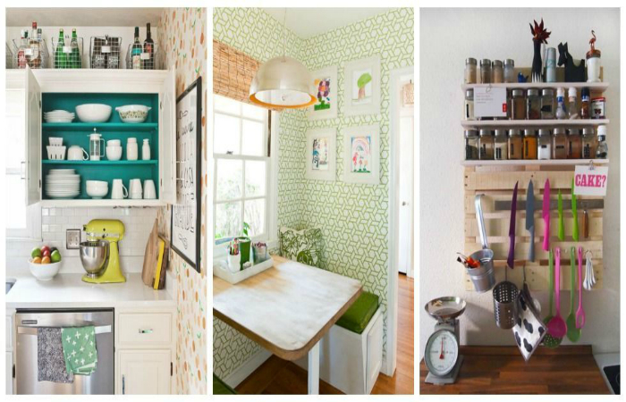 Простые идеи организации пространства маленькой кухни.