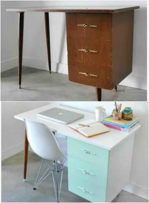 Новая жизнь старого письменного стола.