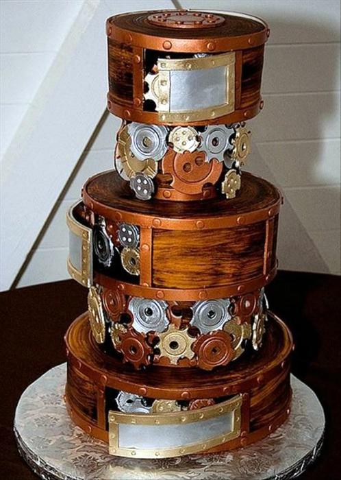 Свадебный торт в стиле стимпанк.