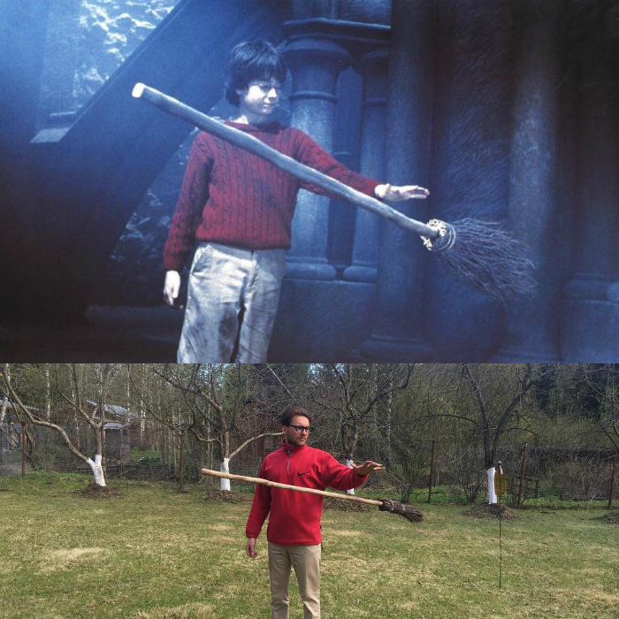 Гарри Поттер и волшебная метла.