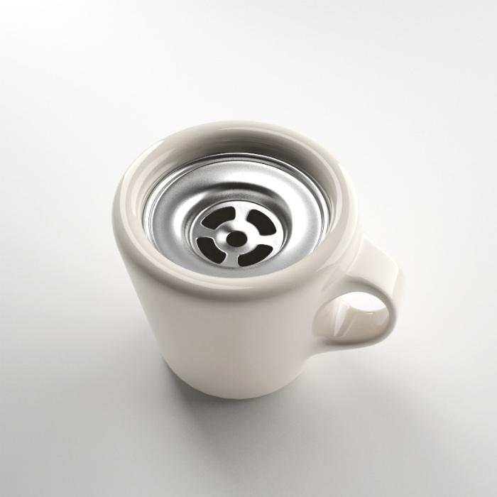 Чашка со сливным отверстием.