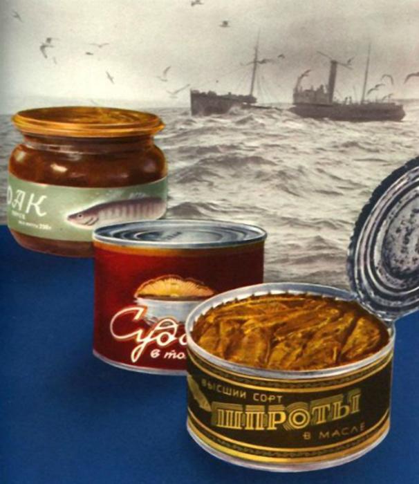 Вкуснейшие шпроты из свежей балтийской кильки были атрибутом любого праздничного стола.