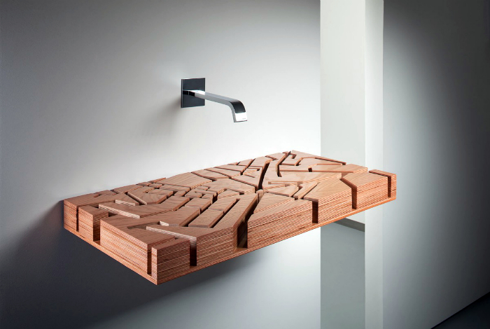 Навесная раковина от дизайнера Юлии Кононенко.