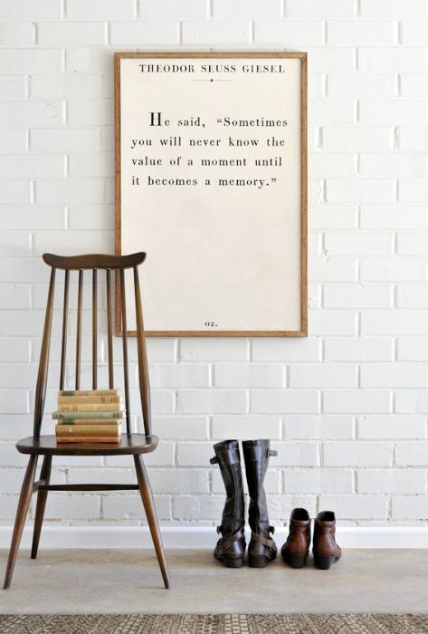 Любимая цитата в рамке.