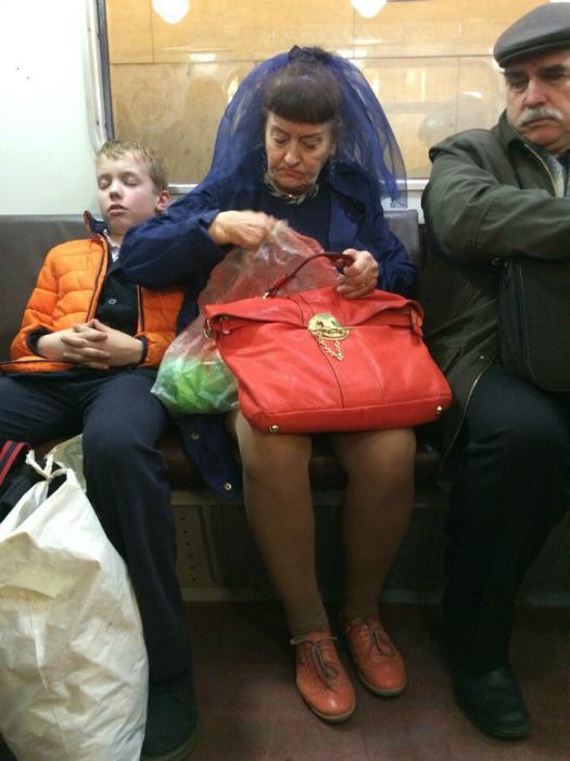 Элегантная старушка.
