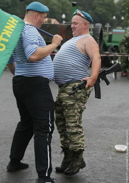 Встреча русских десантников.
