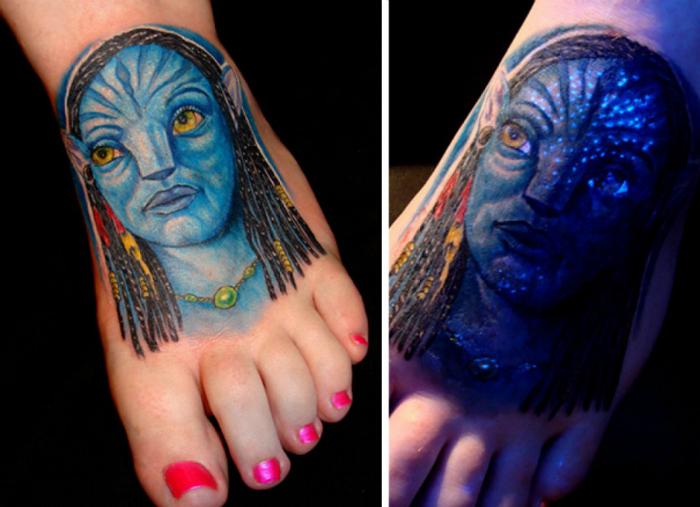 Татуировка с изображением Аватара.