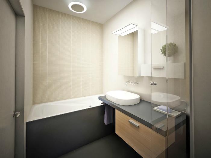 Ванная комната в стиле минимализм.