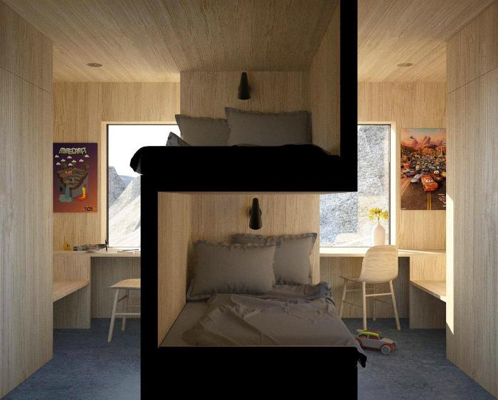 Зонирование комнаты кроватью. | Фото: Twipu.