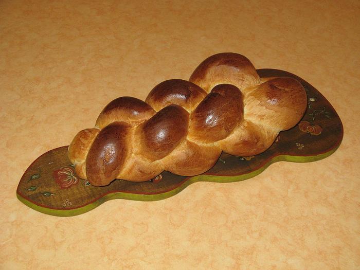 Греческий пасхальный хлеб.