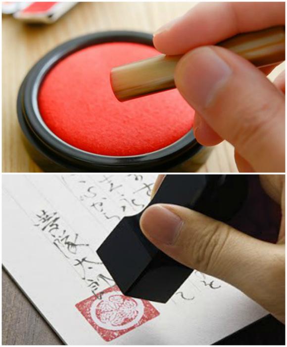 Печать вместо подписи. | Фото: Вся Япония.