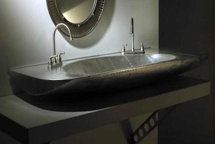 Стильная раковина в стиле лофт.