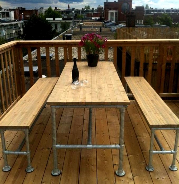 Комплект мебели для столовой. | Фото: Pinterest.