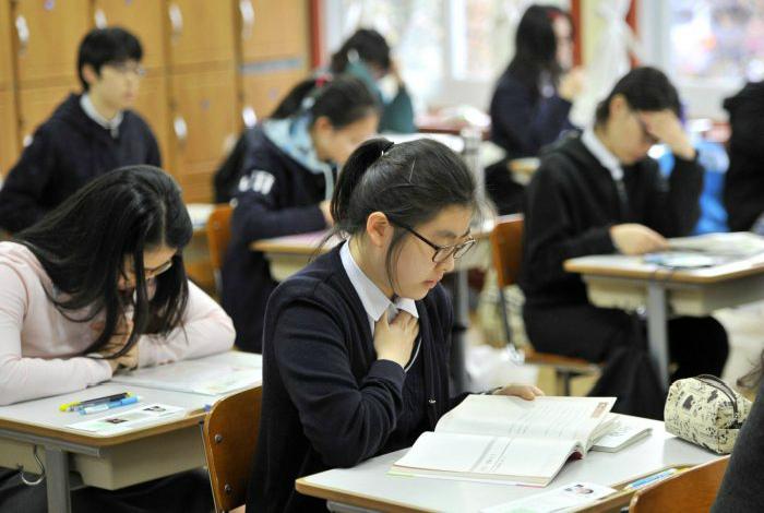 Школьные будни в Южной Корее.