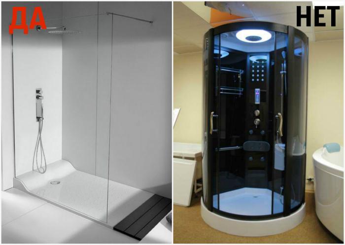 Душевая кабинка с радио, подсветкой и множеством режимов подачи воды.