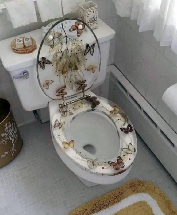 Тематический дизайн сиденья для унитаза.   Фото: Reddit.