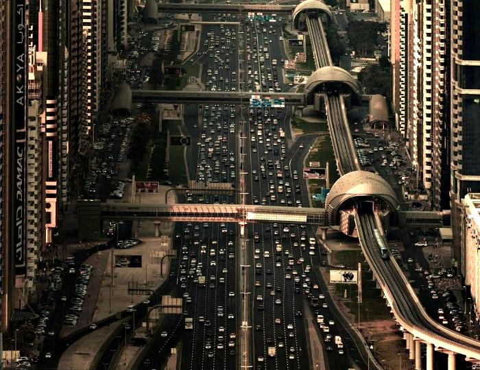 Дорога в Дубае.
